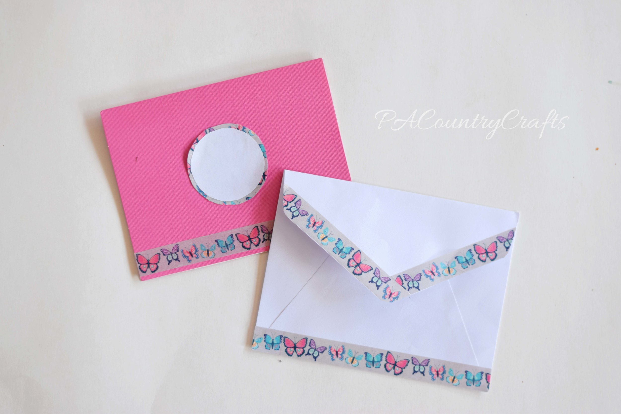 Use washi tape to decorate envelopes!