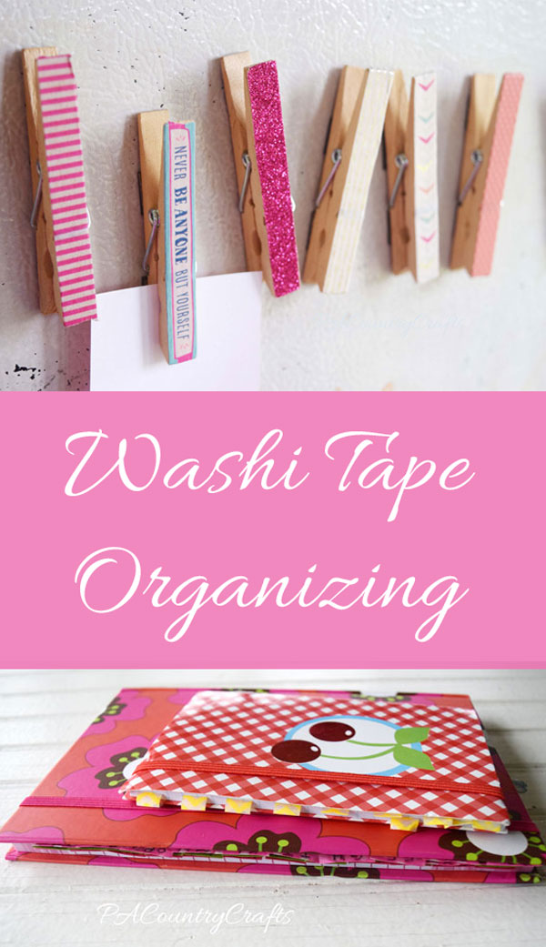 Get organized with washi tape!