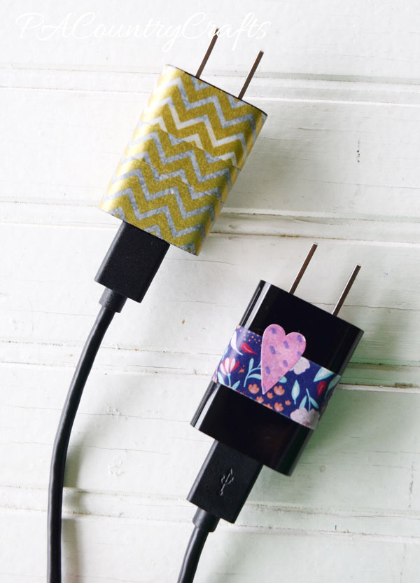 Use washi tape on phone/tablet chargers so they don't get mixed up!