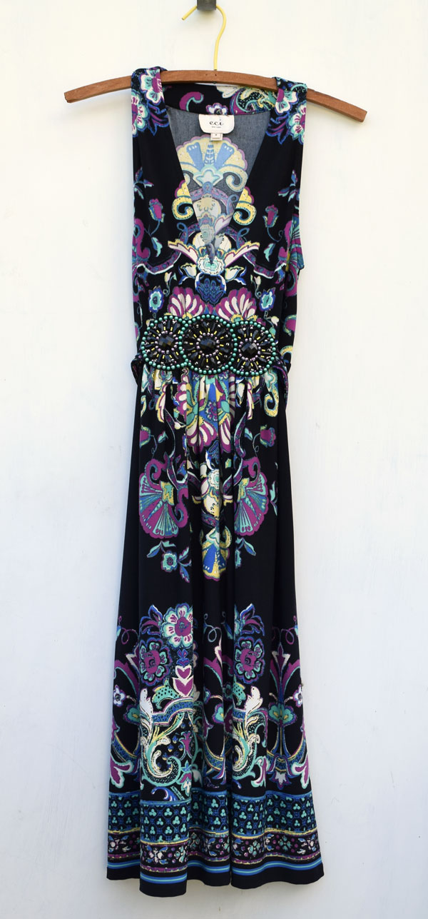 thrift store dress to girls' maxi skirt