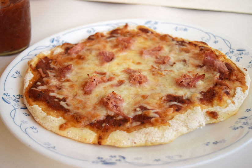 Grilled pizza- don't heat up the kitchen in the summer!