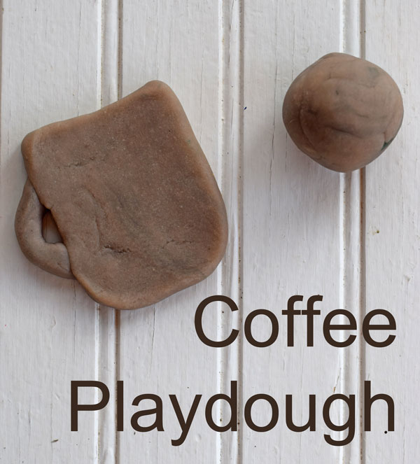 coffee playdough