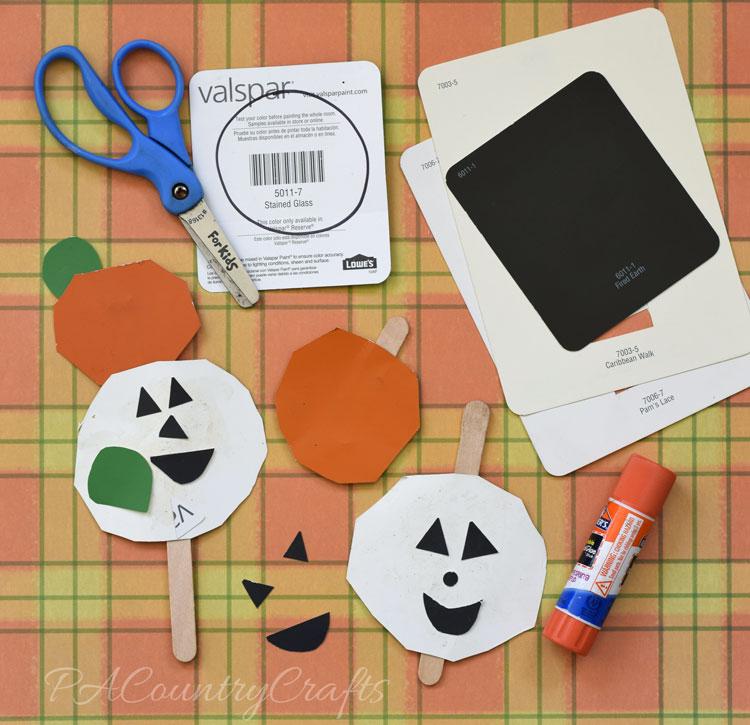 busy bag paint chip jack o' lanterns