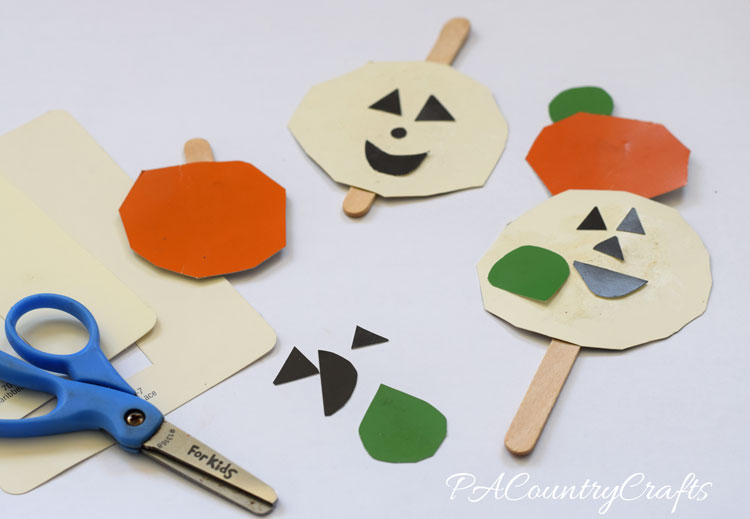Paint Chip Jack-O-Lanterns