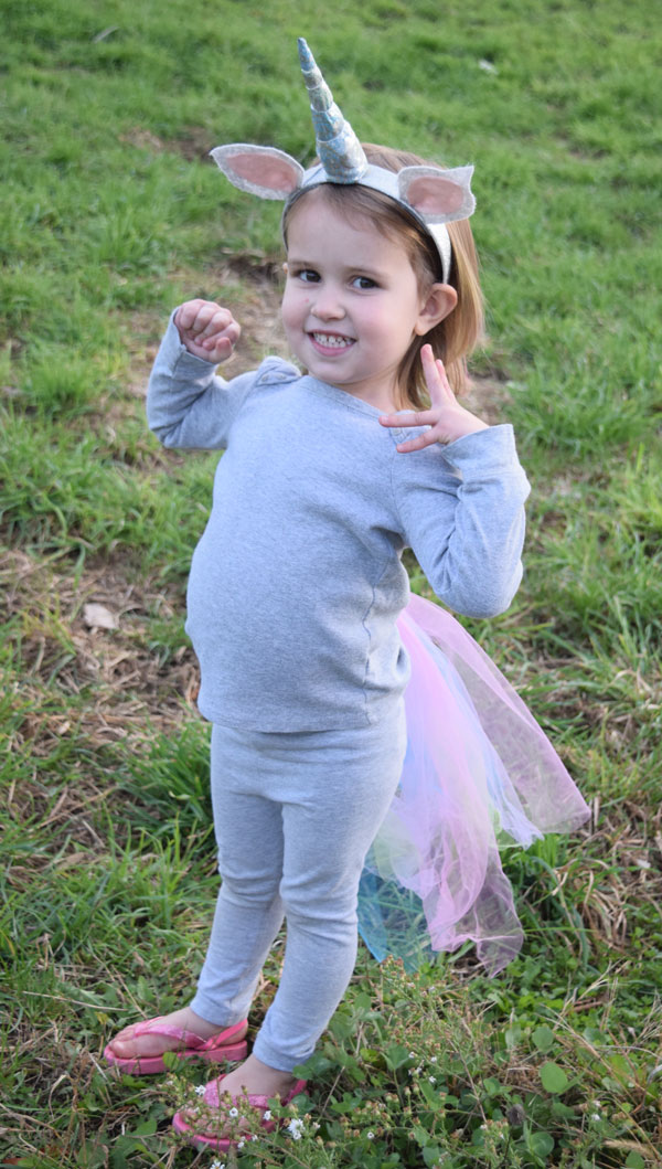 The Easiest DIY Unicorn Costume Ever!