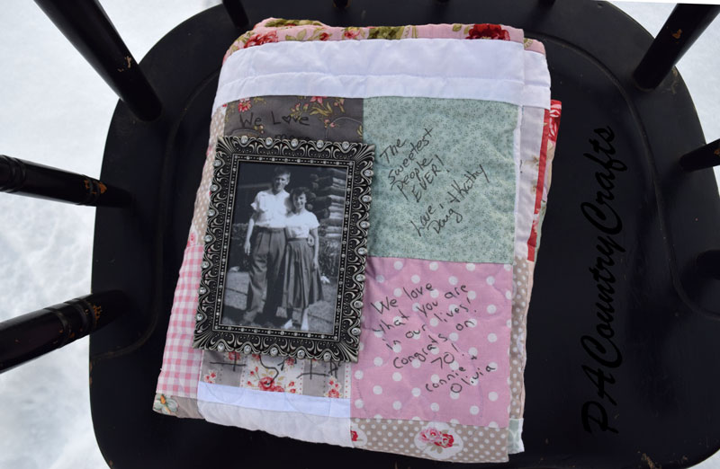 Instead of a guest book have each guest sign a quilt square- great way to use charm packs!