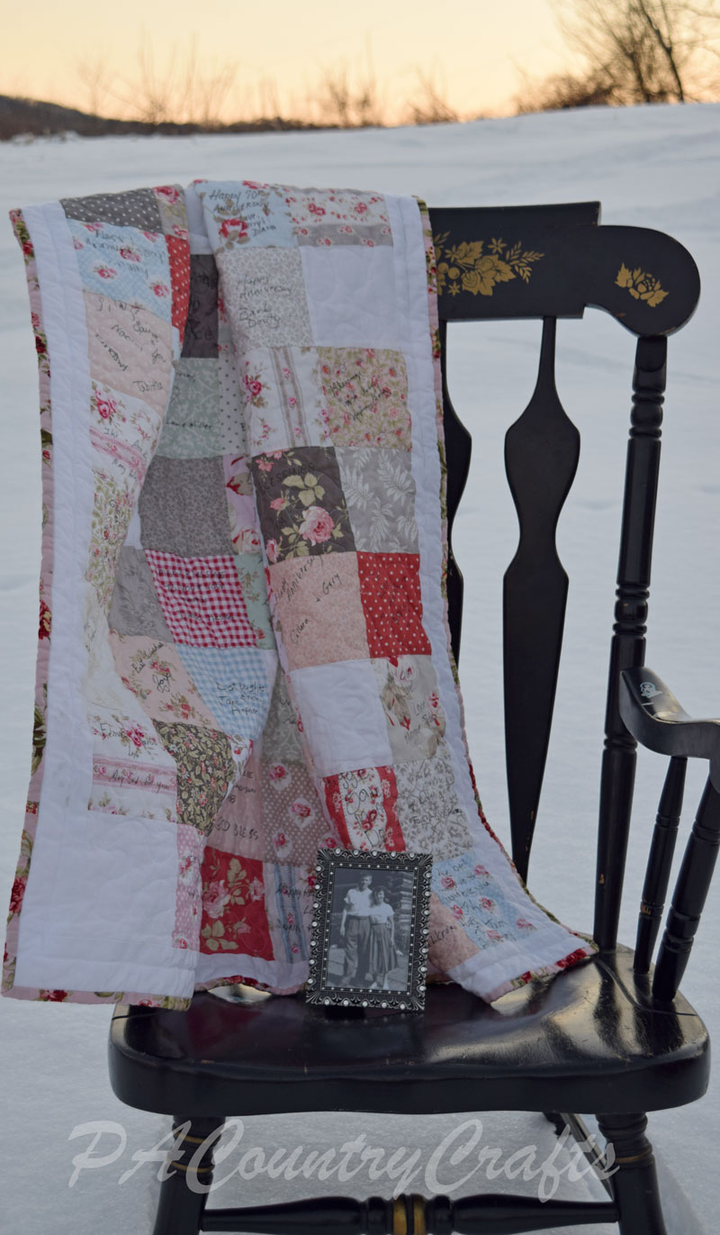 Make a guest book quilt using charm packs!