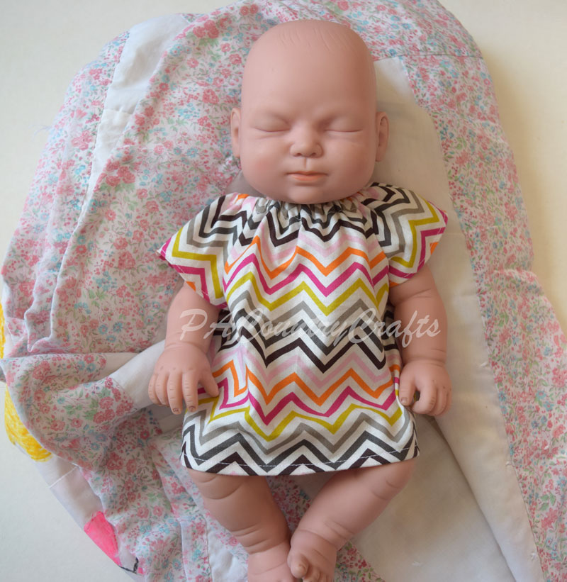 Free baby doll dress sewing pattern- perfect to teach girls how to sew!