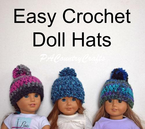 Chunky Crochet Doll Beanies