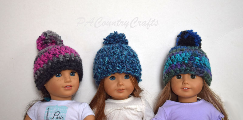 Easy Crochet Doll Hats