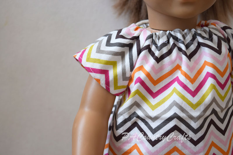 Easy doll peasant top free sewing pattern.