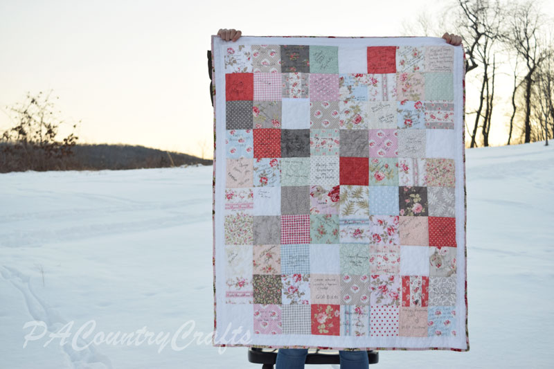 Scrappy Guest Book Quilt Idea