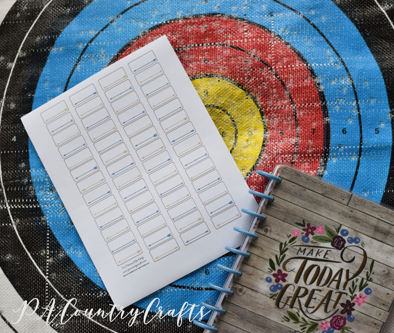Archery Planner Stickers - free printable