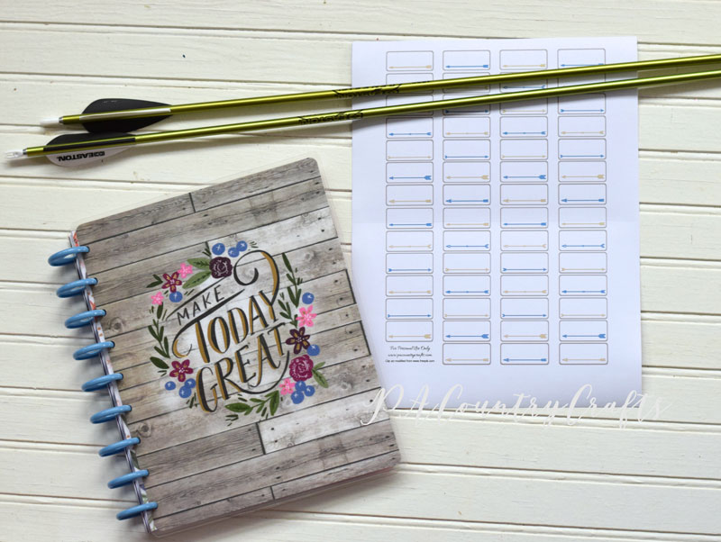 Small boxes with arrows - free planner sticker printable