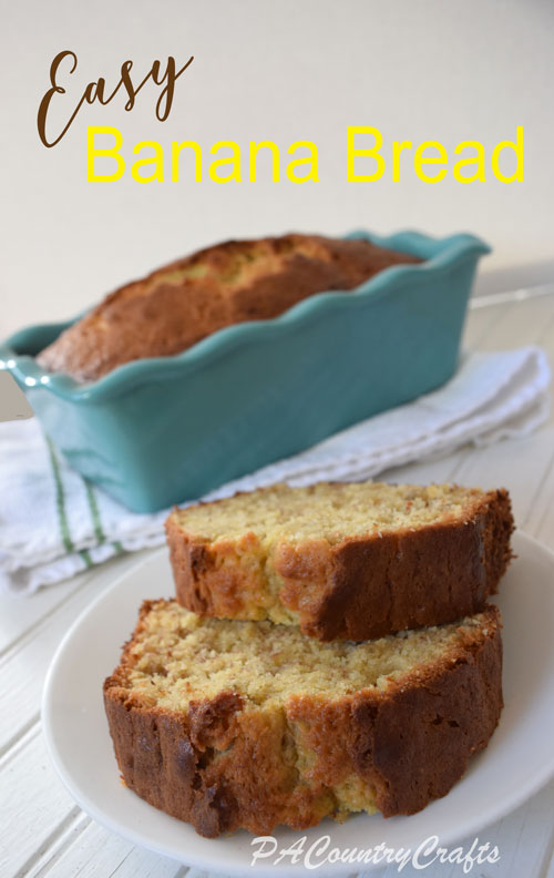Easy banana bread recipe that mixes in one bowl!
