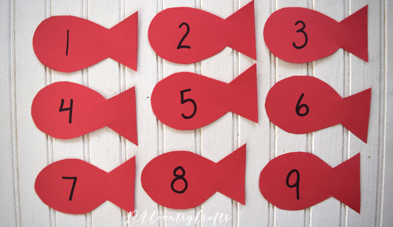 One Fish Two Fish Numbers Activity