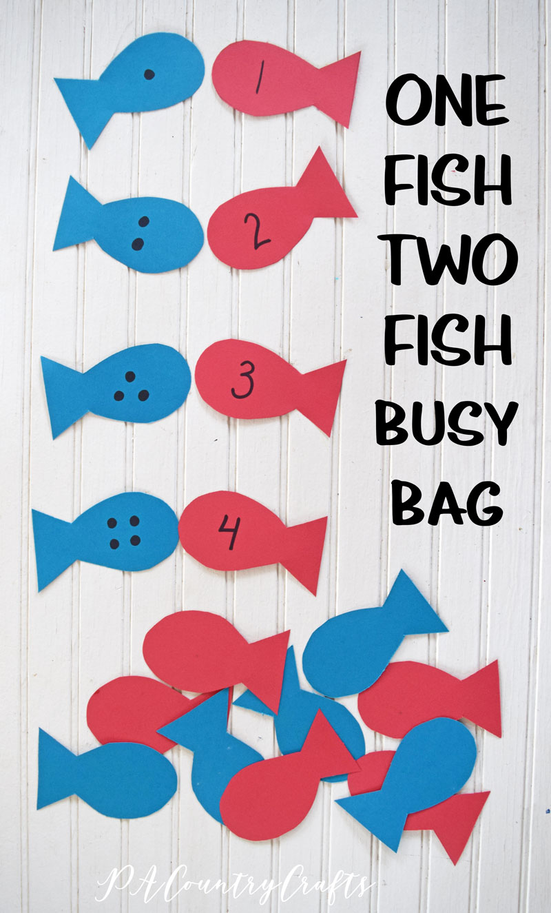 One Fish Two Fish Preschool Busy Bag
