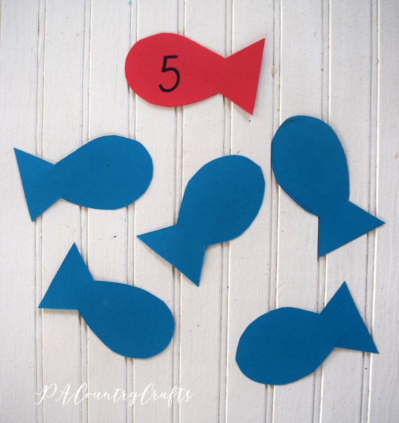 red fish blue fish counting activity
