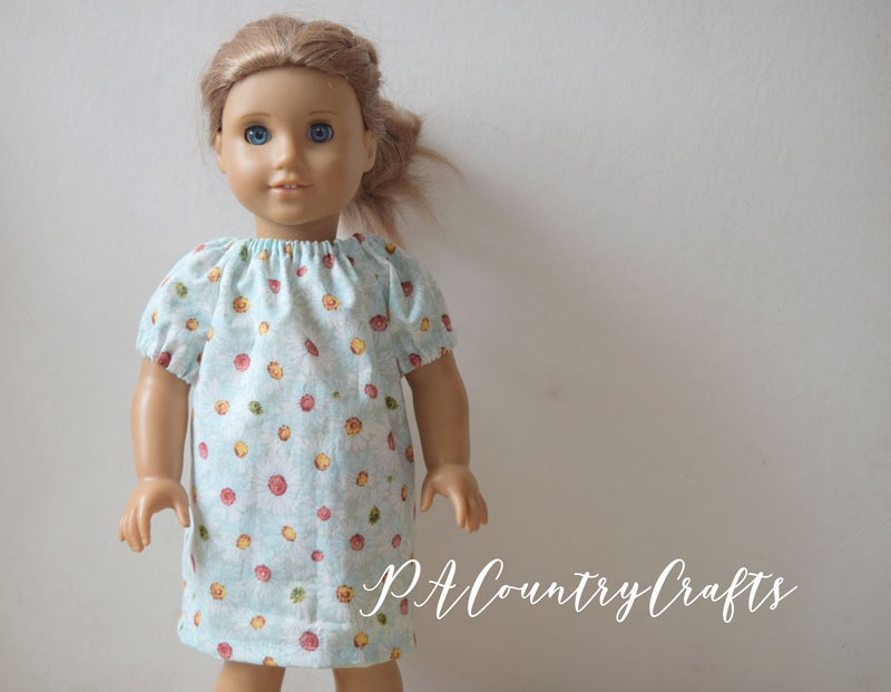 Tutorial with step by step pictures for making a doll peasant dress with elastic sleeves