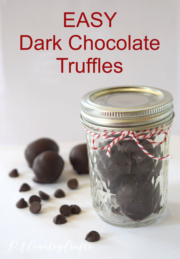 Make these easy dark chocolate truffles with just 2 ingredients!