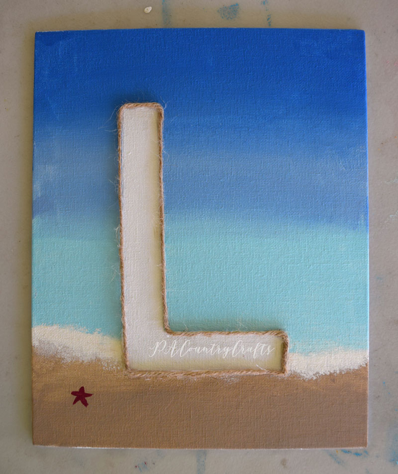 Beach canvas art for kids! So easy!