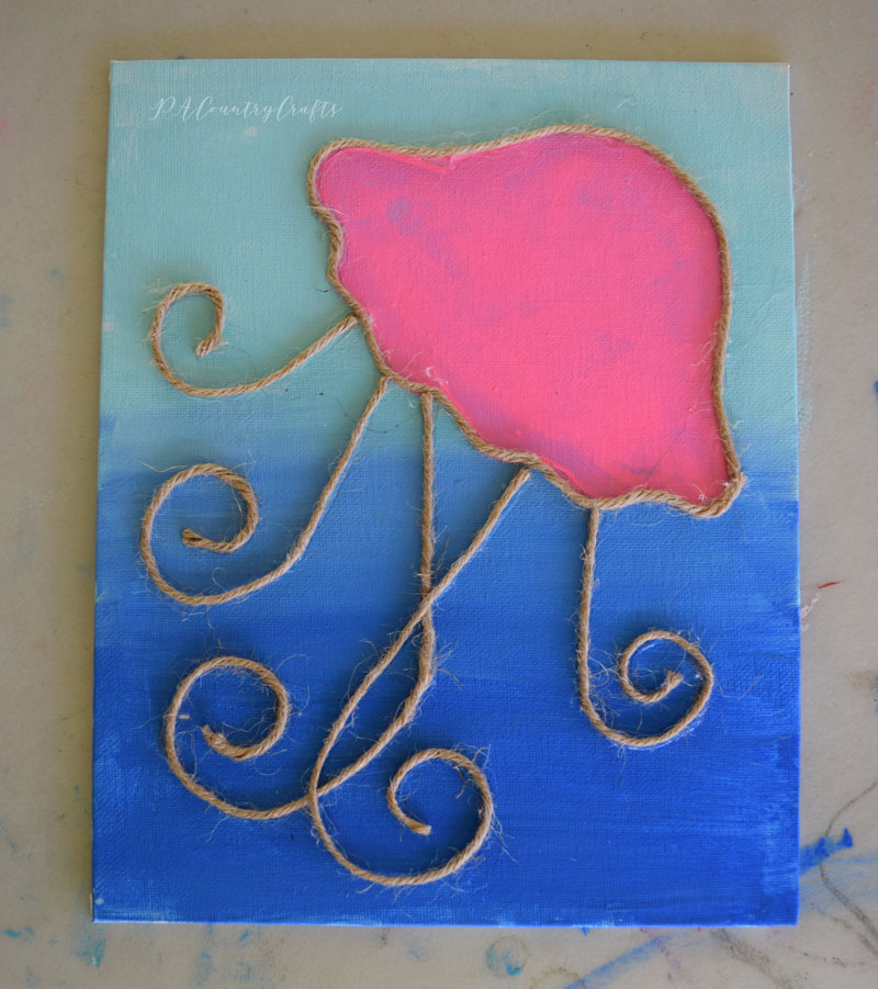 Jellyfish kids canvas painting project