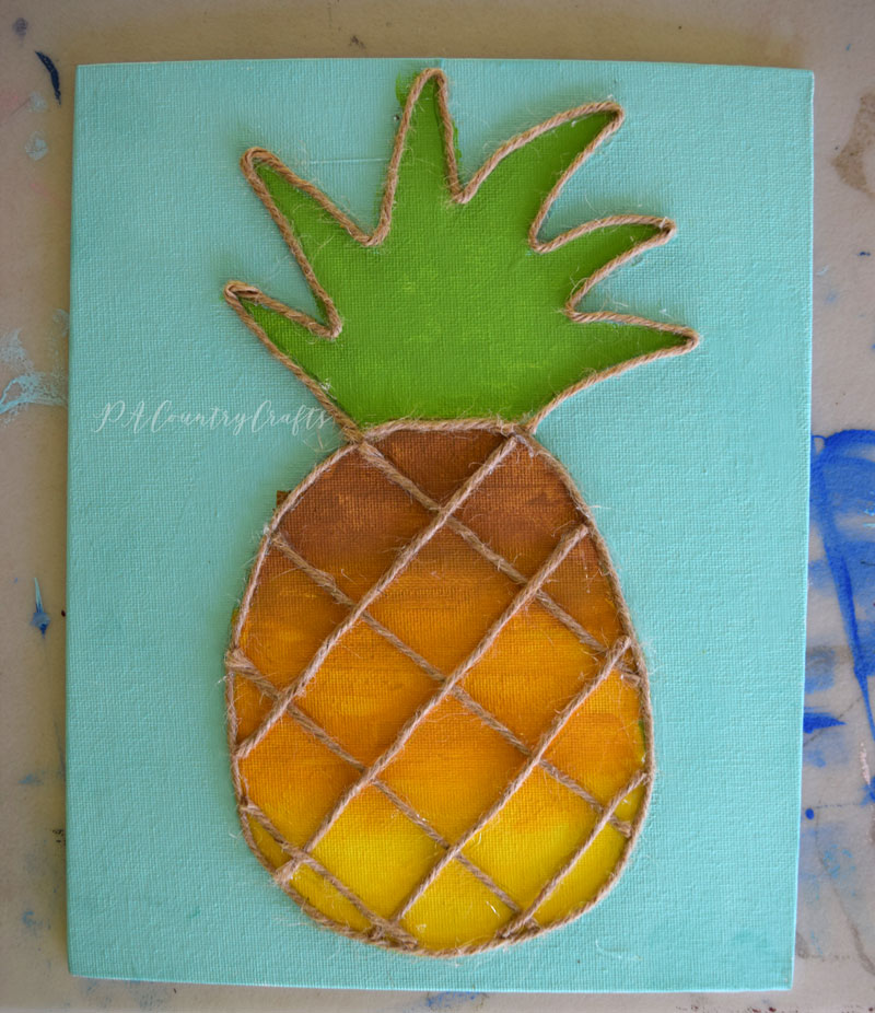 Pineapple painting- kids canvas painting class