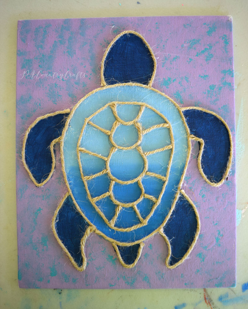 Sea turtle kids canvas painting class for a birthday party
