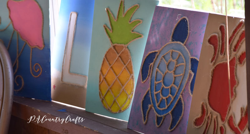 Kids beach canvas paintings for a birthday party