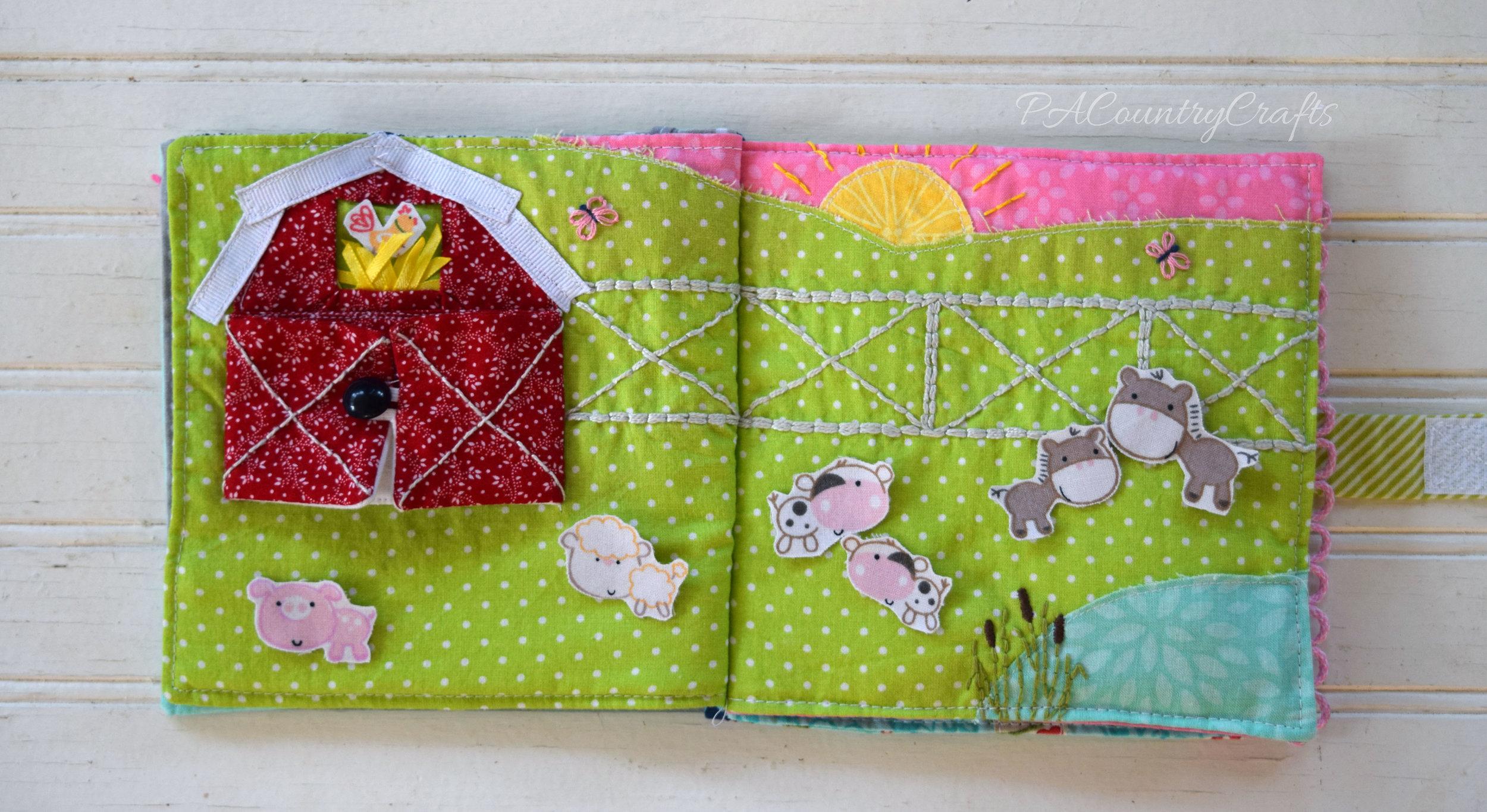 farm animal quiet book page
