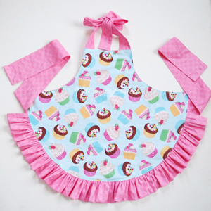 Reversible Girls Ruffle Apron