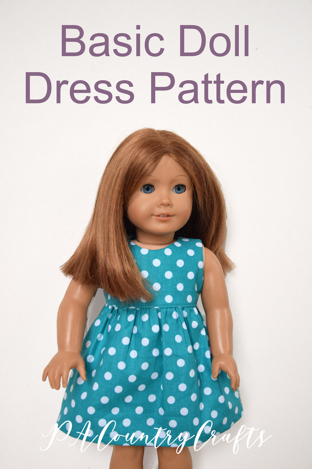 "Free basic doll dress pattern for 18"" or American Girl Dolls"