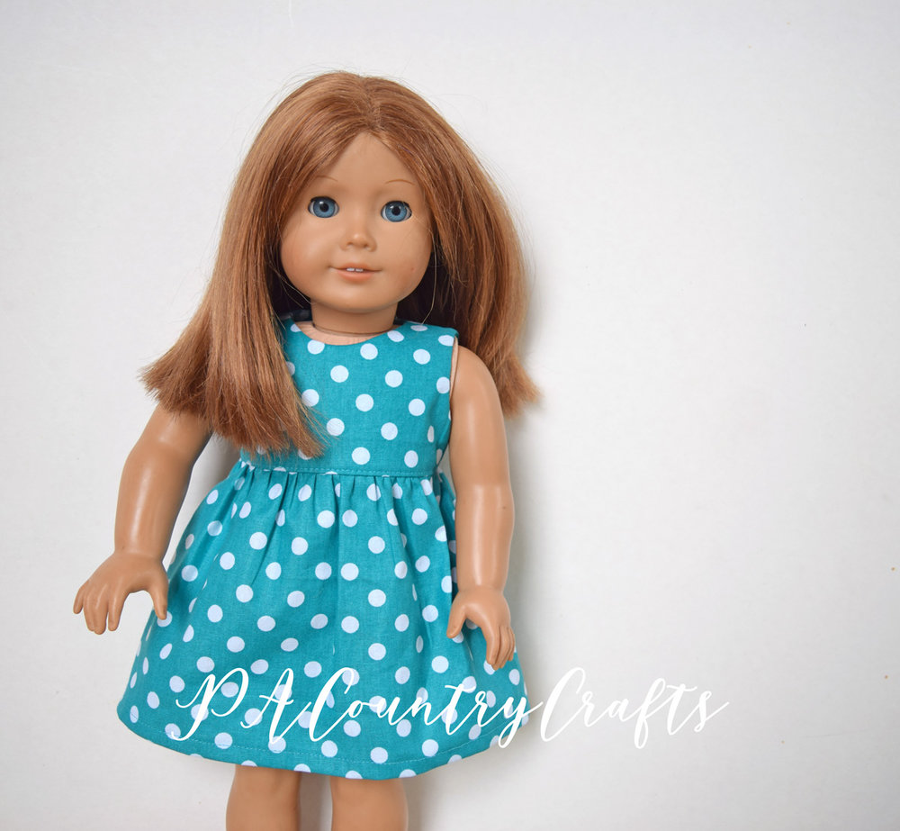 """Free pattern download for an 18"""" doll dress"""