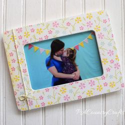 Scrapbook Paper Picture Frame