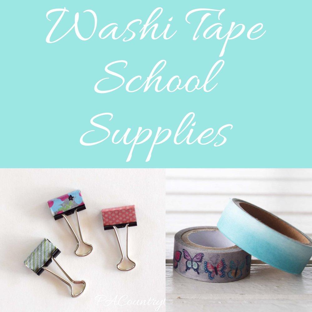 Washi Tape School Supplies