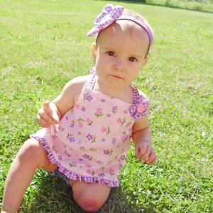 baby halter top tutorial