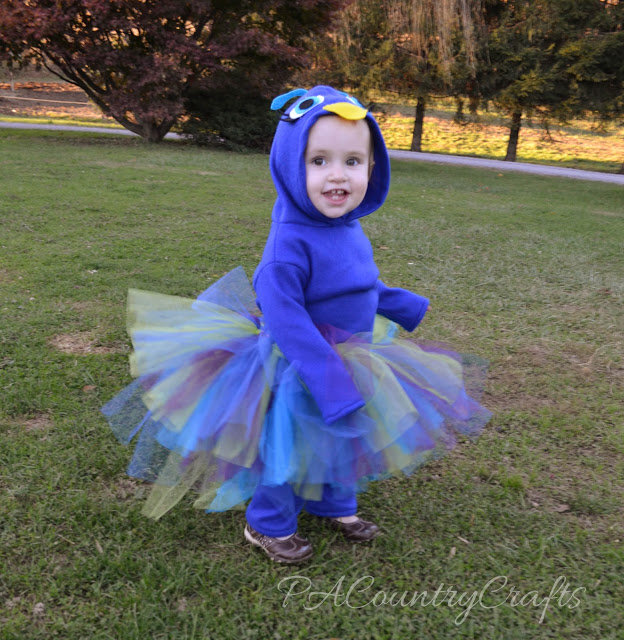 Fleece Peacock with Tutu