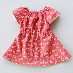 Elastic Sleeve Doll Dress