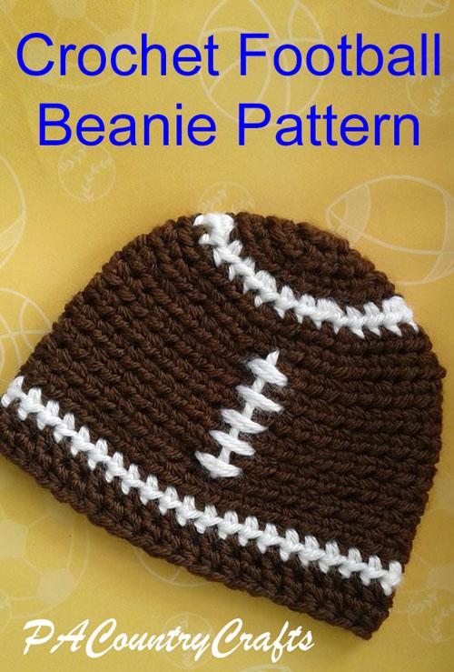 Crochet Football Beanies