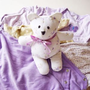 Baby Clothes Memory Bear