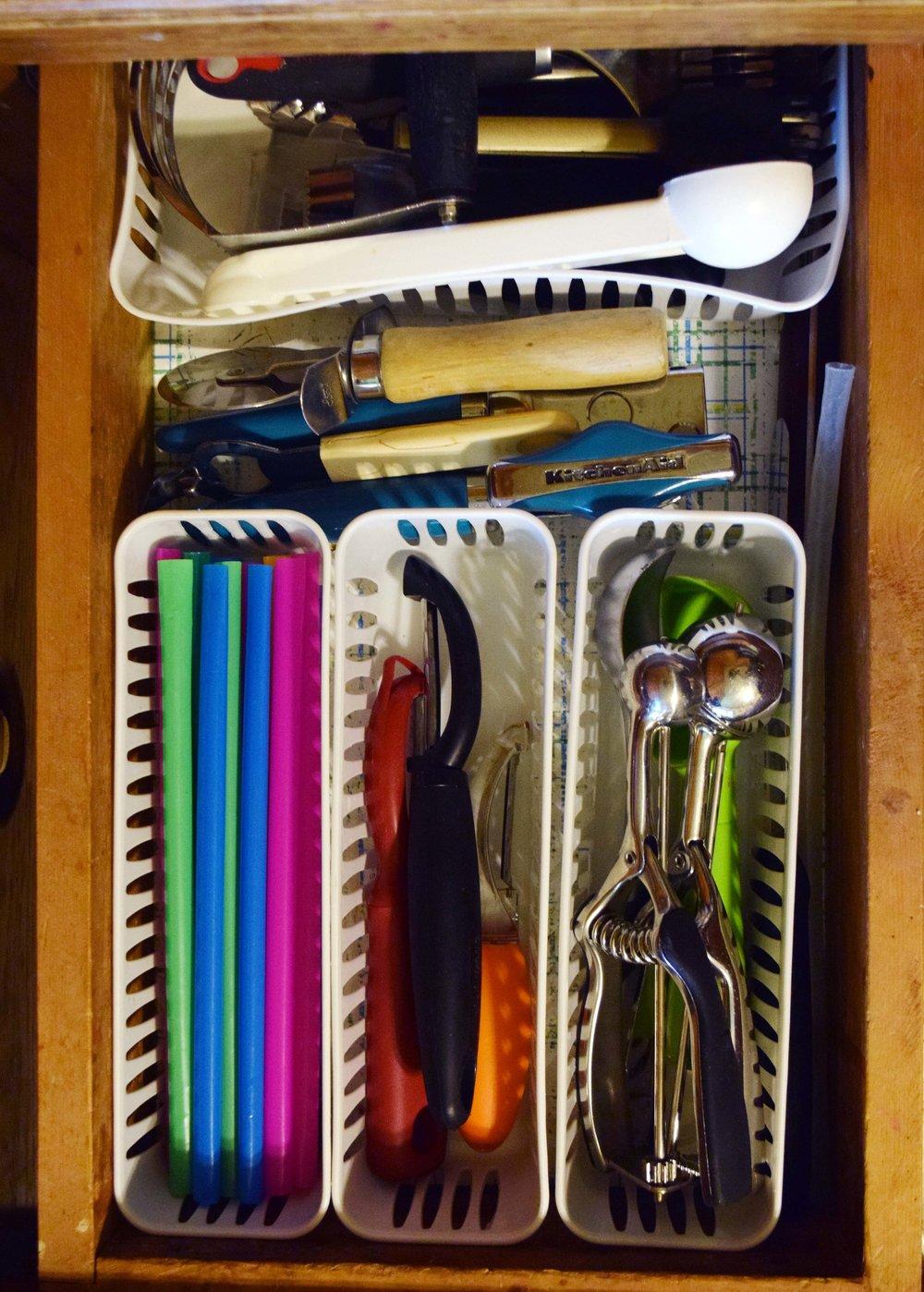 Kitchen Drawer Organizing