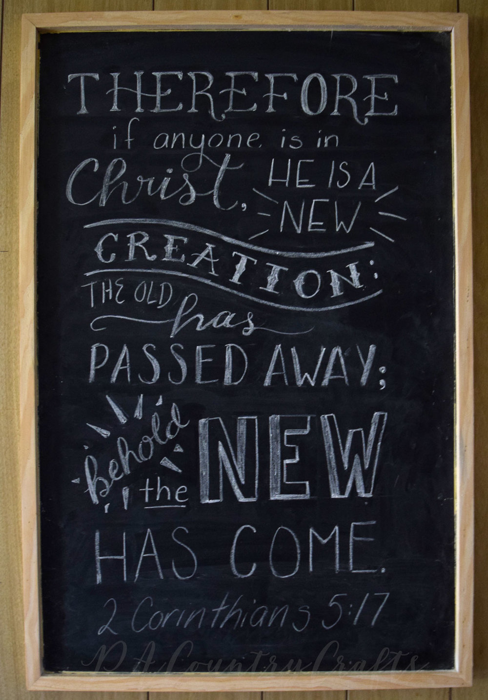 2 Corinthians 5:17 chalkboard