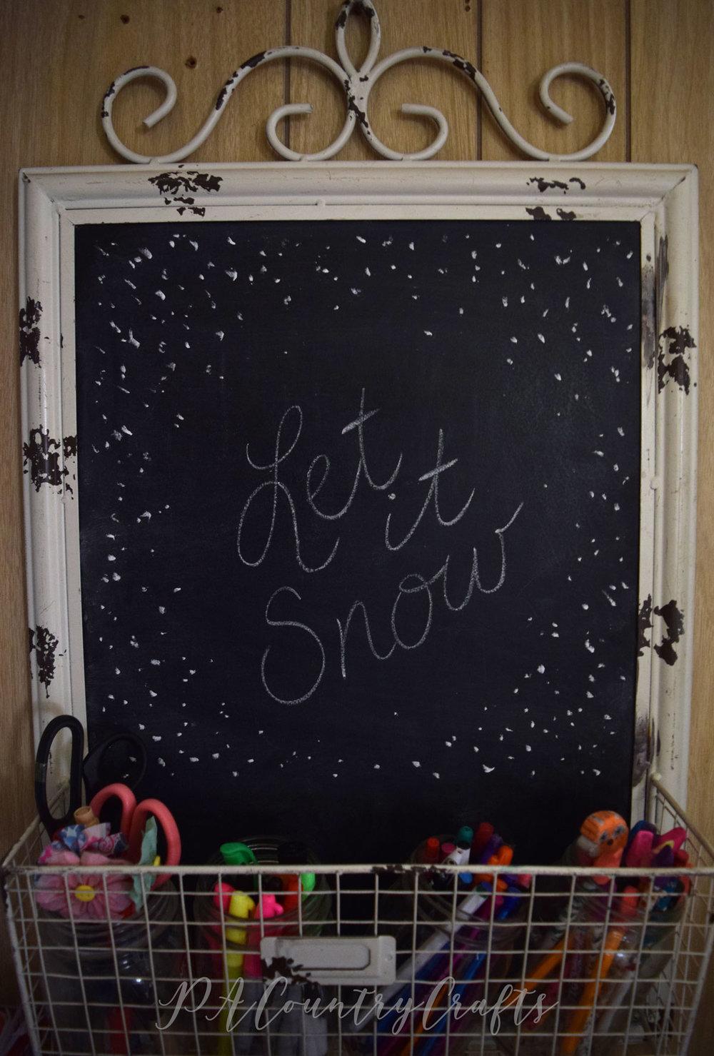 Let it Snow simple chalkboard