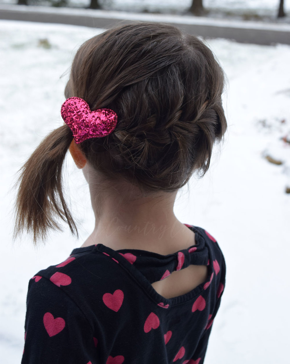 glitter heart hair clips tutorial