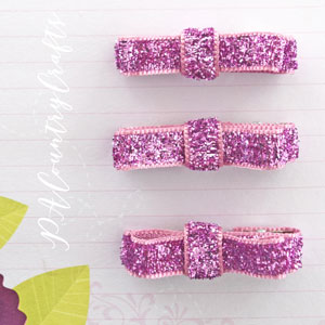 Ribbon Bow Mini Hair Clips