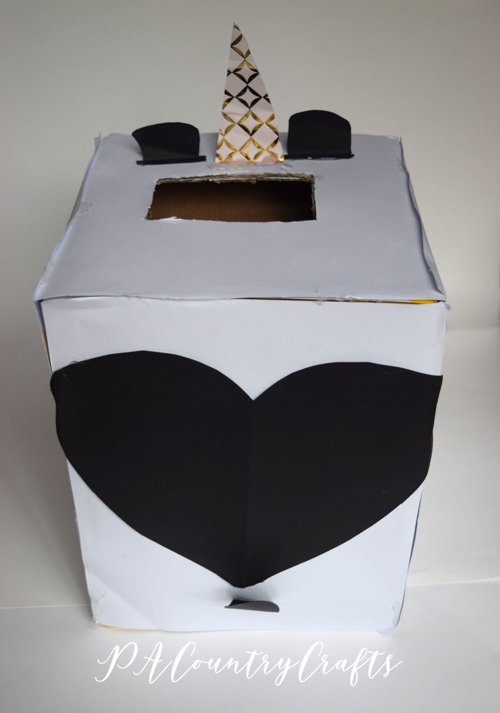 Panda valentine box made by kids!