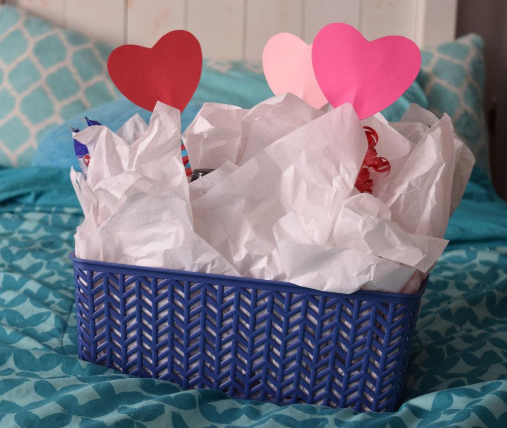 Valentine Candy Gift Basket for Him