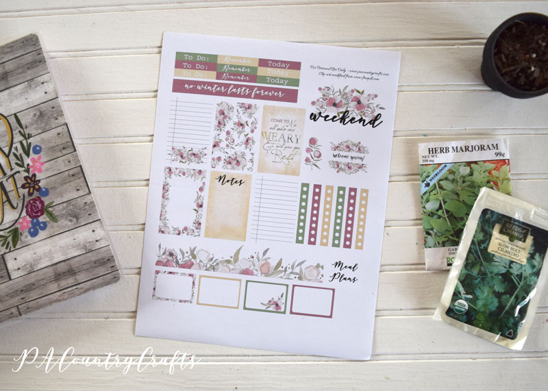Welcome Spring Planner Stickers
