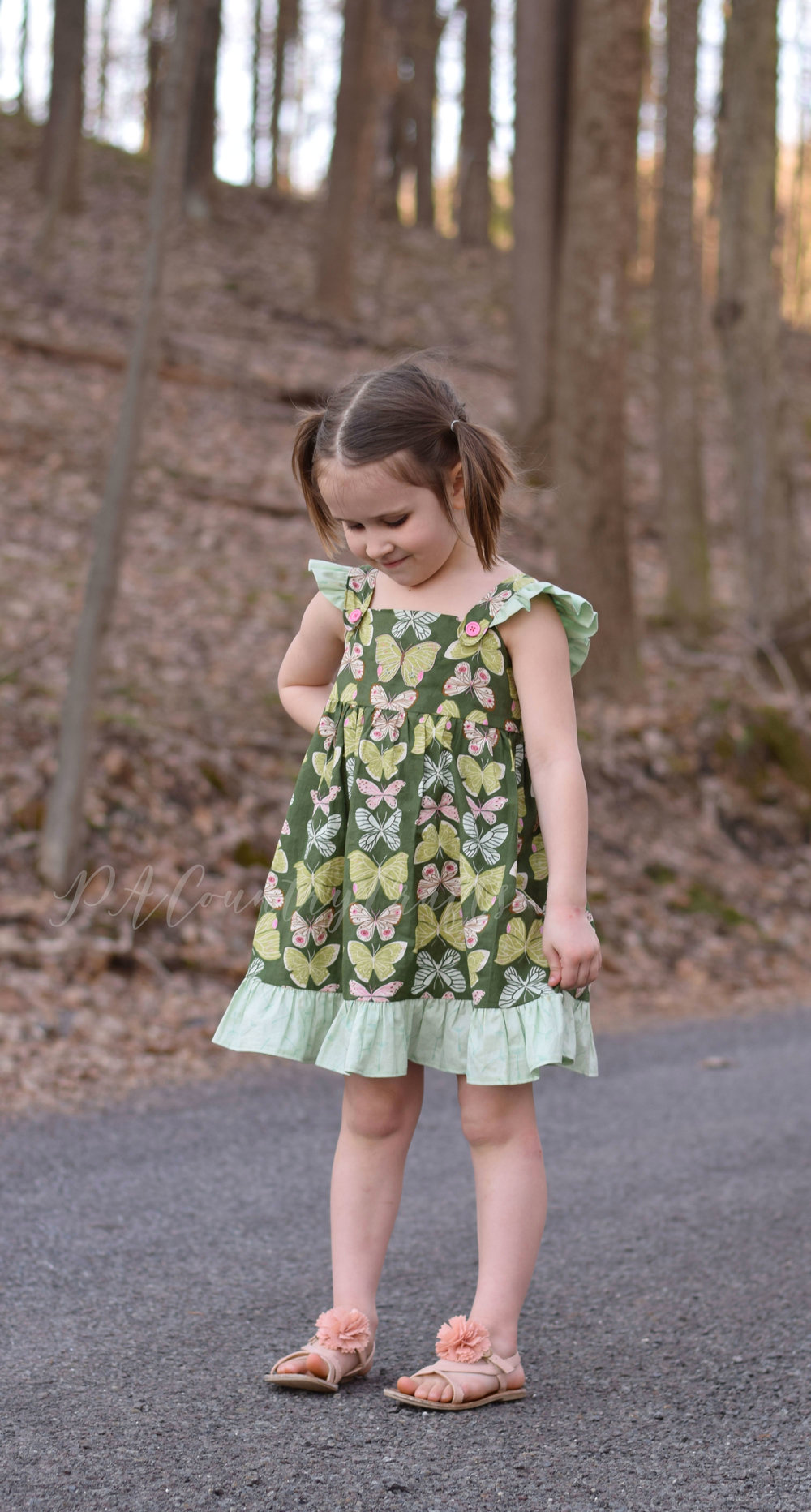 Girls dress from a vintage sewing pattern