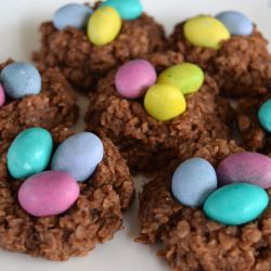 No Bake Egg Nest Cookies